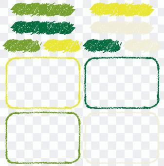 Crayon Frame Green 2