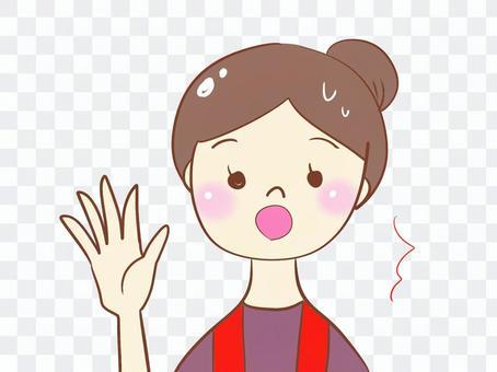 Shacho Masoro female figure girls older sister finger pointing