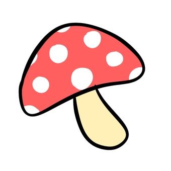 Polka dot mushroom red