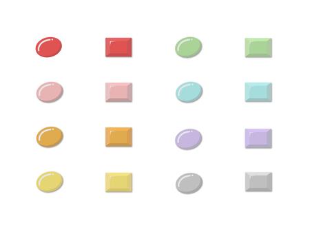 七彩按鈕套裝(8色)