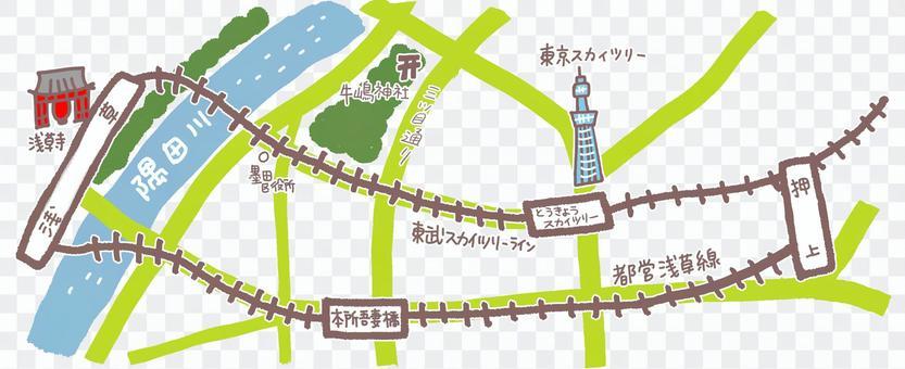 Map of Oshiage
