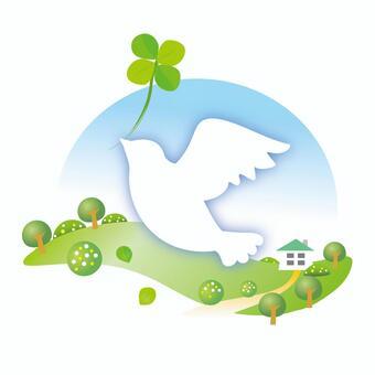 鴿子攜帶幸福