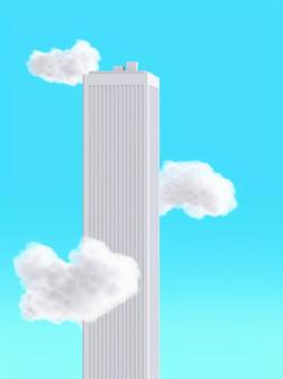 Skyscrapers and clouds
