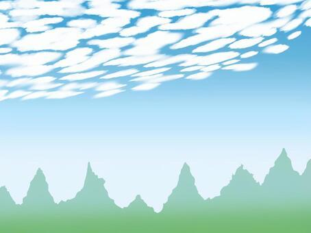 鱗片雲0001  - 中午
