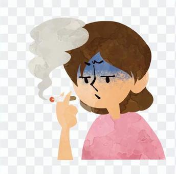 誰吸煙煙草女性