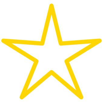 Stars Sharp star lines Rounded corners