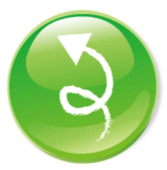 手繪箭頭圖標 - 綠色