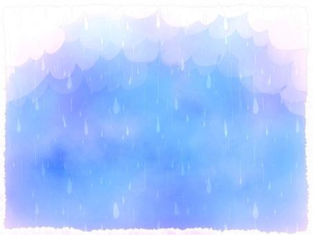 雨 雲 水彩 背景