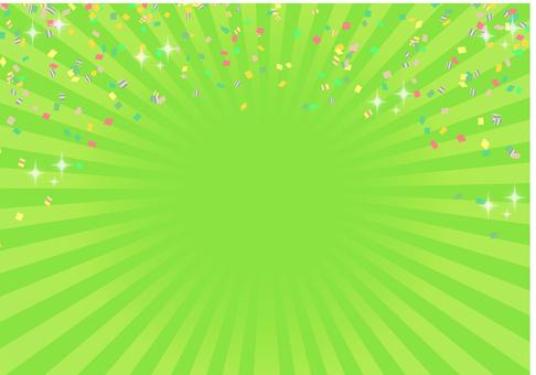 集中線(中央)黄緑