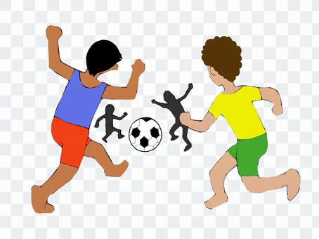 拉丁足球男孩
