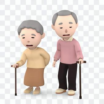An old couple sticking a wand 05