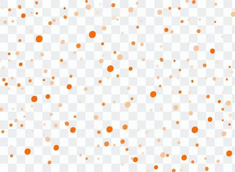 橙色波爾卡圓點圖案