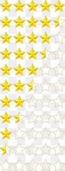 排名評級星級