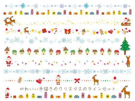 可愛的手繪聖誕線集