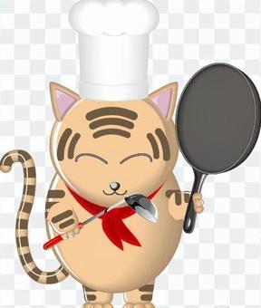 猫 料理 コック 料理長 シェフ キャラ