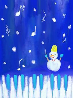 Piano and snowman