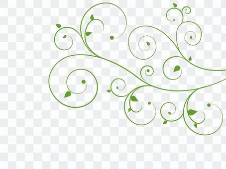장식 / 꽃 덩굴 - 녹색 / Swirls03