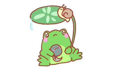 Frogs and rain companions