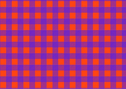 Halloween-colored gingham check ②