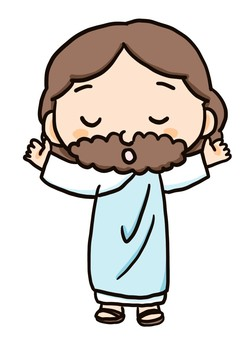 耶穌基督張開雙臂祈禱的插圖