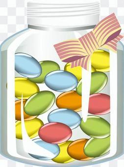 糖果糖果瓶絲帶