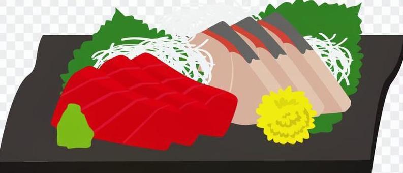 什錦生魚片