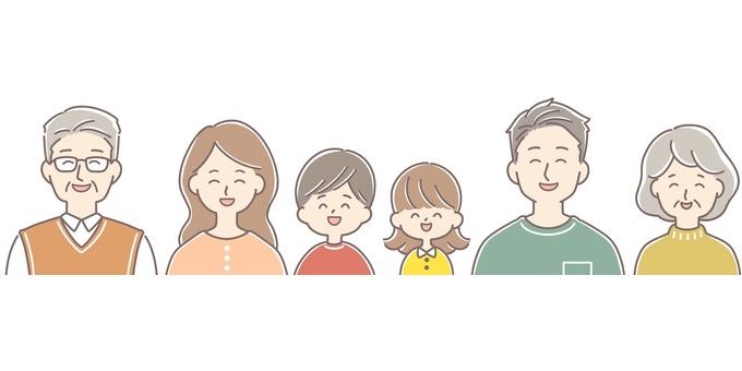 笑的家庭愉快溫暖和五顏六色