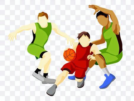 打籃球的運動員