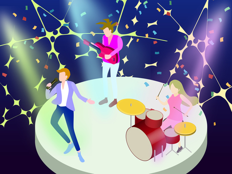 Isometric band performance stage