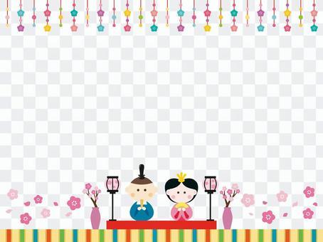 玩偶節日框架
