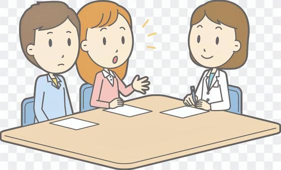 諮詢醫生 - 年輕人和女醫生 - 全身
