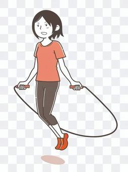 跳繩肌肉訓練運動婦女
