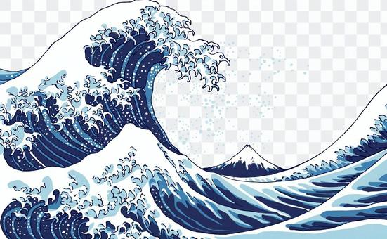 Thirty-six views of Futako _ Okiwa Kanagawa _ Waves and Fuji
