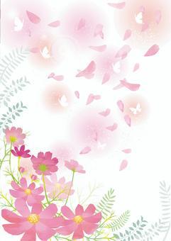 秋天櫻花框架