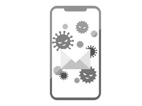 感染病毒的智能手機