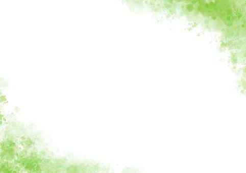 수채화 프레임 (녹색)
