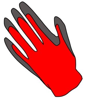 無襯里手套薄天然橡膠外套(一隻手)