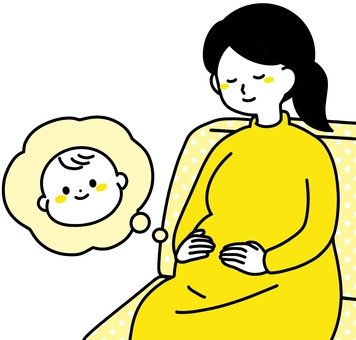 Pregnant woman with a smile