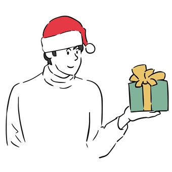 帶聖誕禮物的男人