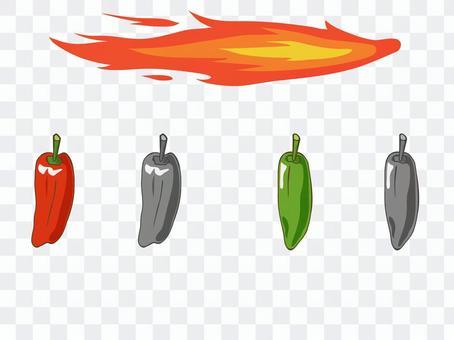 火焰和紅辣椒