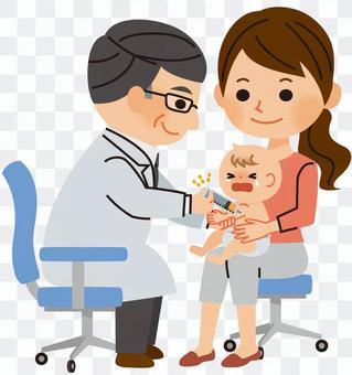 寶寶接種疫苗