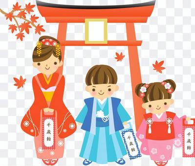 Shichigosan的插圖