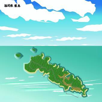 藍島 福岡県 島 海 上空