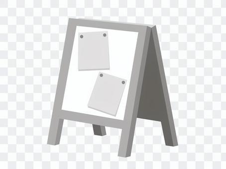 牆壁標誌(黑白·公告牌版本)