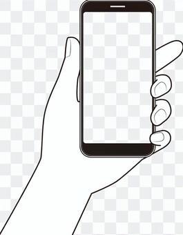 與智能手機的手