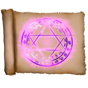 Magic scroll CG