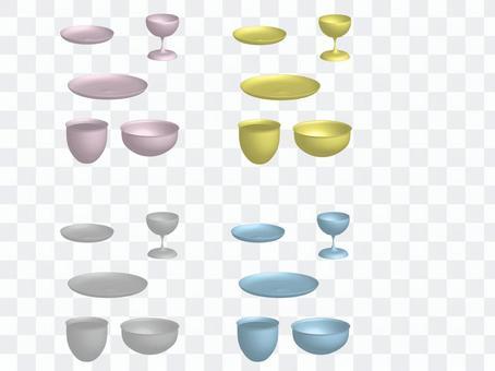 Three-dimensional tableware