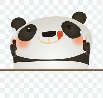 Pandas receive knife & fork