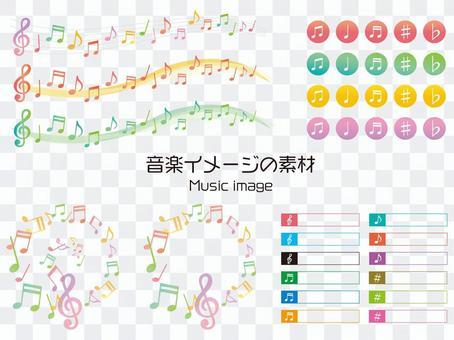 音乐图象的音乐例证集合材料