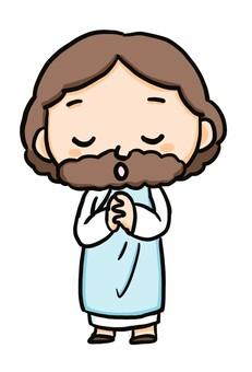 耶穌基督雙手合十祈禱
